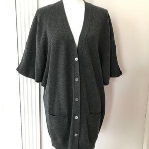 Vince Gray Cashmere Cardigan Sweater Tunic Vest